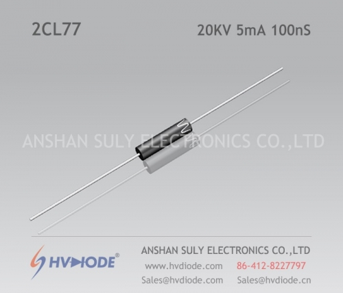 Fast recovery high frequency 25KV10mA100nS high voltage diode 2CL79 glass blunt chip HVDIODE hot sale