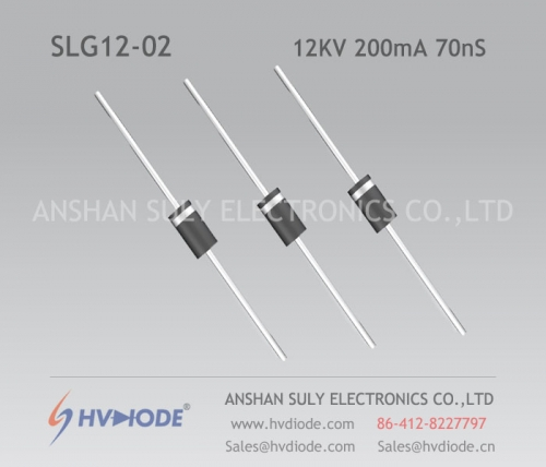 High frequency SLG12-02 ultra fast recovery high voltage diode 12KV200mA70nS