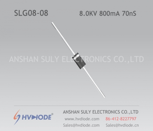 Military quality high frequency SLG08-08 ultra fast recovery high voltage diode 8KV800mA70nS