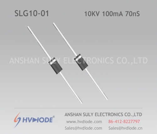 Ultra-fast recovery SLG10-01 high frequency high voltage diode HVDIODE produced 10KV100mA70nS