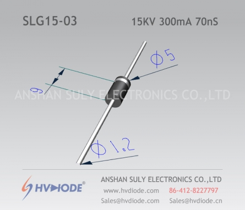 15KV300mA70nS high frequency high voltage diode SLG15-03 ultra fast recovery HVDIODE manufacturer