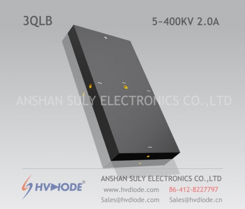 HVDIODE manufacturers produce genuine good goods 3QL5 ~ 400KV / 2.0A power frequency high voltage three-phase bridge