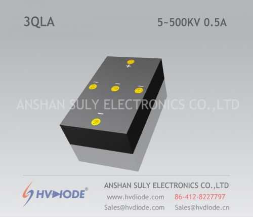 Genuine power frequency 3QL5 ~ 500KV / 0.5A high voltage three-phase bridge HVDIODE manufacturers