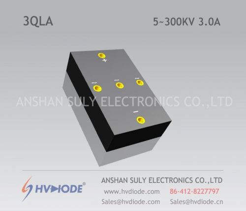 Genuine power frequency 3QL5 ~ 300KV / 3.0A high voltage three phase bridge HVDIODE manufacturers